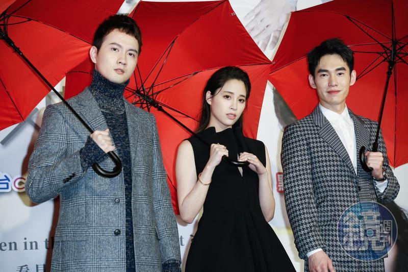 張捷、歐陽妮妮、張書豪出席《腦波小姐》首映會。