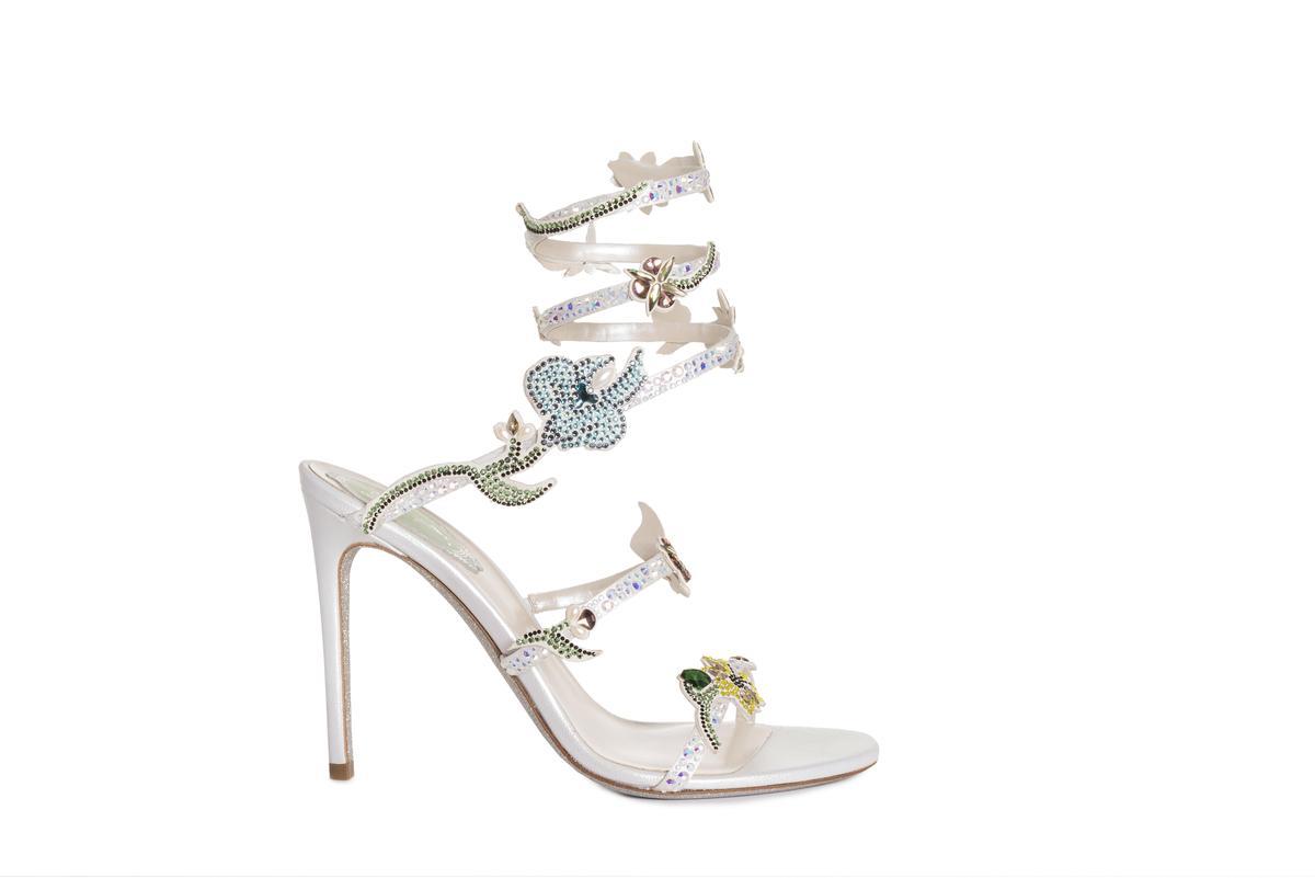 .Flora Cleo系列。NT$72,000。(René Caovilla提供)