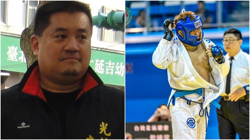 前大安區光信里長朱雪璋(左)因斷人腳筋潛逃中國被通緝,傳出已被中國公安逮捕。(翻攝自維基百科)