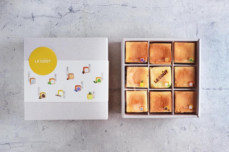 內湖LE GOUT麵包店最新力作「雪藏九宮格小方塊禮盒」(650元/盒)。 (LE GOUT提供)
