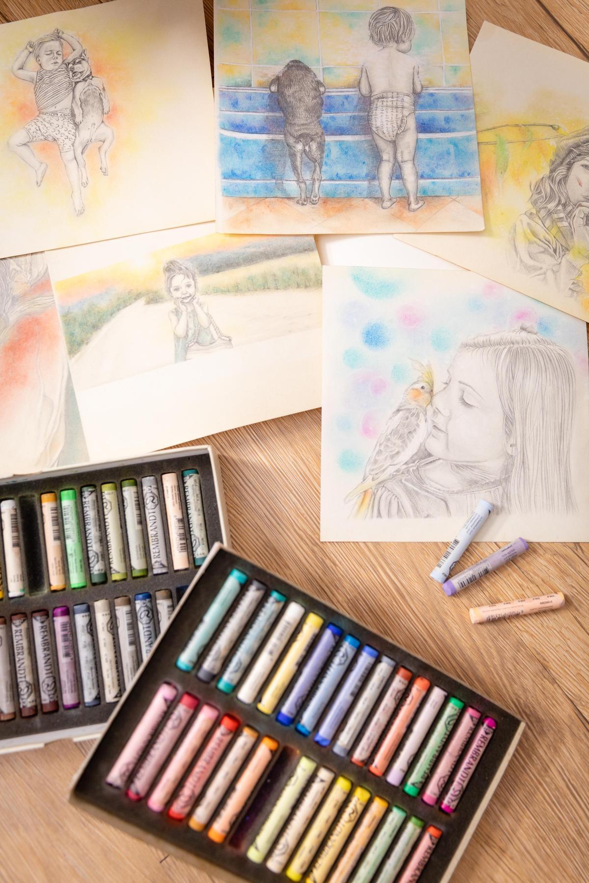 李依瑾不只往外跑,也很享受一個人在家的時刻,寫劇本、看書、畫畫,最近還迷上編織包。