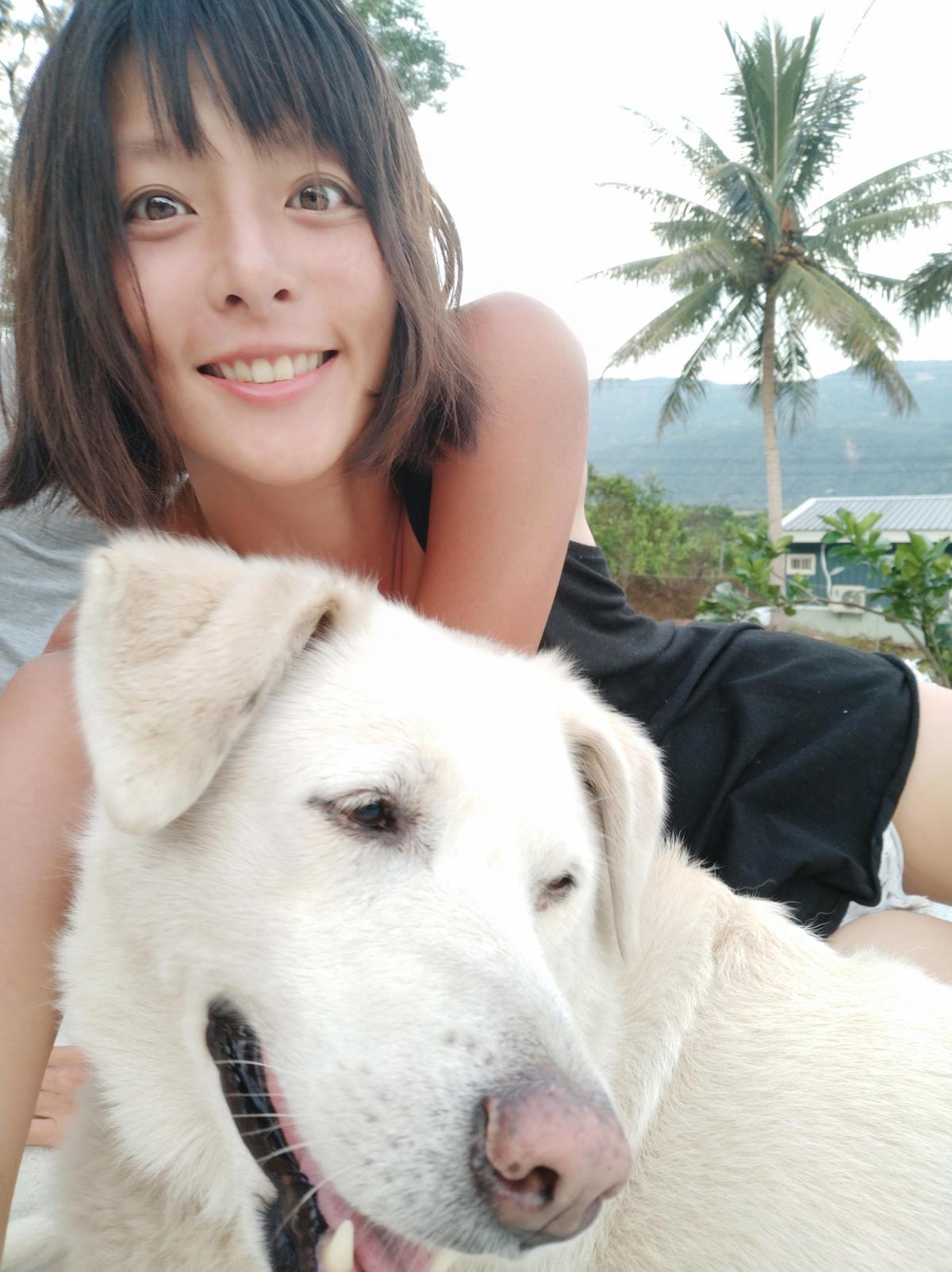 不工作的時候,她選擇定居台南悠閒過生活。