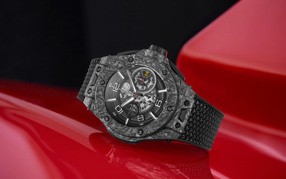 2011年起宇舶錶與FERRARI合作至今推出過不少聯名錶款,而最新的作品是這只Big Bang 法拉利 1000 GP紀念錶。