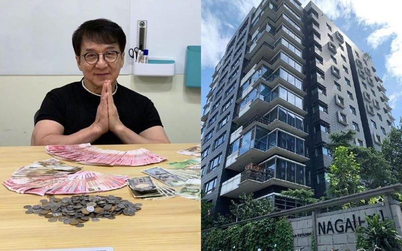 成龍驚傳位於北京的2戶豪宅將被法拍,建商出面坦承因債務問題連累成龍。(翻攝自成龍、鳳凰網財經微博)