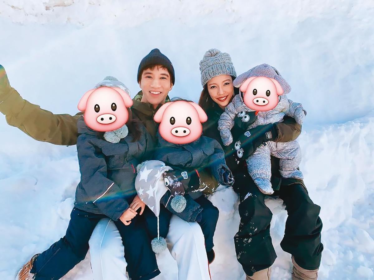 王力宏和李靚蕾結婚多年,育有2女1子, 家庭婚姻幸福美滿。(翻攝自李靚蕾IG)
