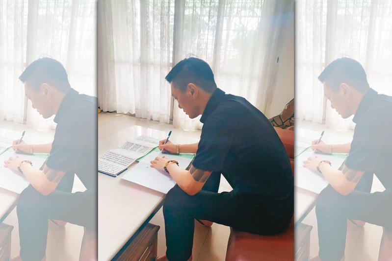 遭收押近1年,連千毅透露在看守所中抄寫《道德經》懺悔。(連千毅提供)
