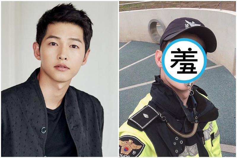 韓國一名帥哥前義警與宋仲基撞臉,引發女網友暴動。(翻攝自Naver、車友賢IG)