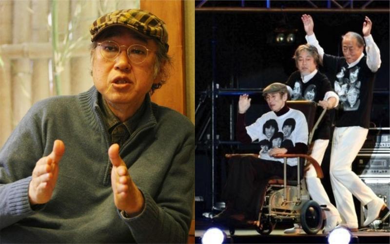 日本資深男星岸部四郎(左圖)上月底病逝,他7年前曾現身「THE TIGERS」重組演唱會,當時就因病消瘦。(翻攝自網路)