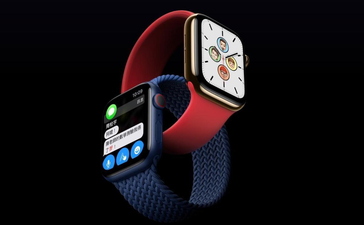 Apple Watch Series 6將推出新顏色。(翻攝蘋果官網)