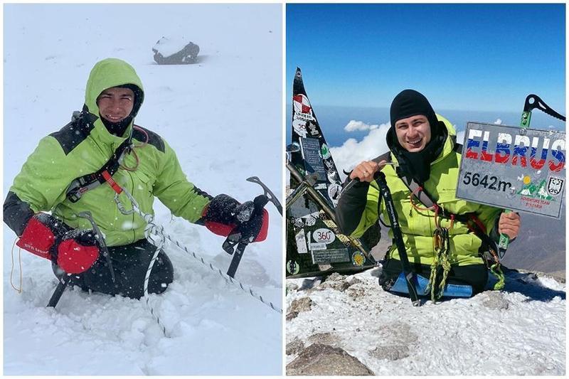 納比耶夫雖因意外失去雙腿,仍勇攀歐洲第一高峰成功攻頂。(翻攝自納比耶夫IG)
