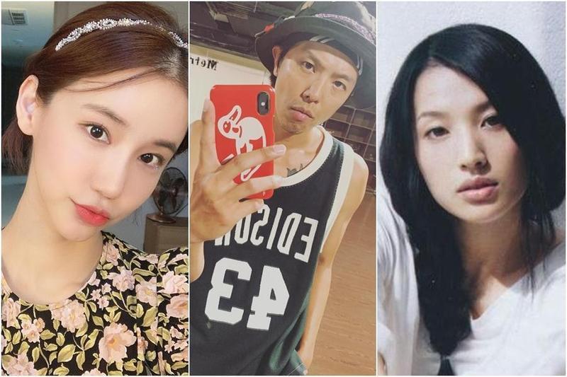 日本女星蘆名星(右)、韓國女星吳仁惠(左)和台灣男星黃鴻升(中)先後傳出噩耗,都是36歲過世。(翻攝自IG、網路圖片)