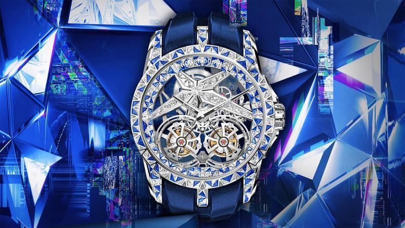 今年ROGER DUBUIS在上海Watches & Wonders發表的Excalibur Superbia,以超狂的鑲嵌法成為此次錶展的話題新錶。