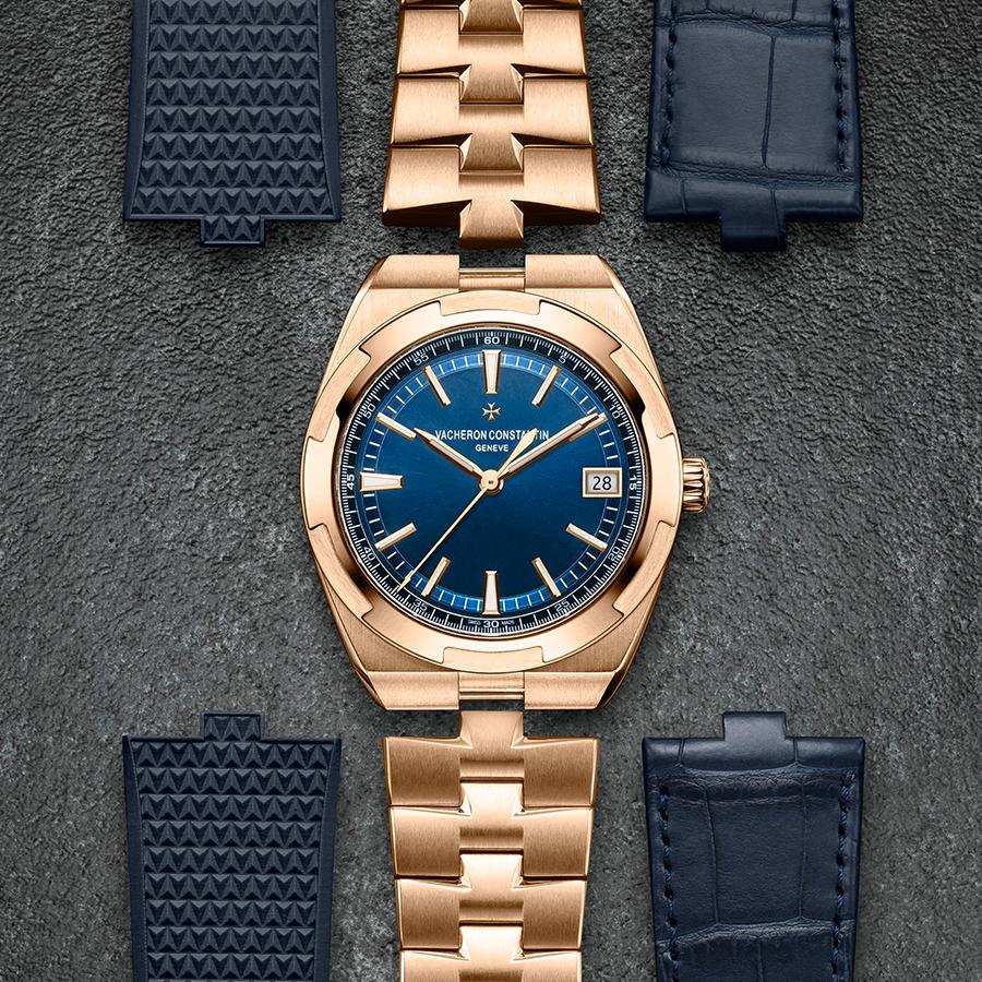 Overseas|錶徑41mm/18K玫瑰金材質/時間及日期指示/5100自動上鏈機芯/日內瓦印記/防水約150米