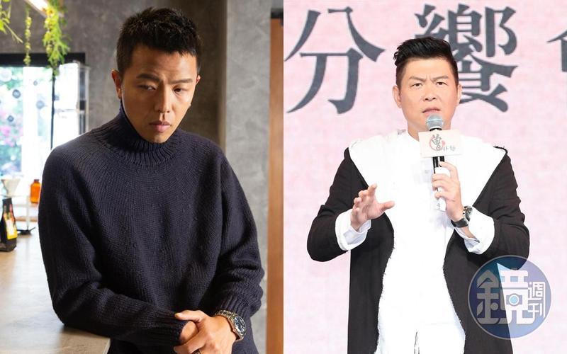 小鬼黃鴻升(左)猝逝,好友曾國城(右)受訪時一度落淚。(本刊資料照)