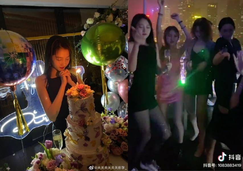 關曉彤昨晚提前與親友一起開心慶生。(翻攝自網路)