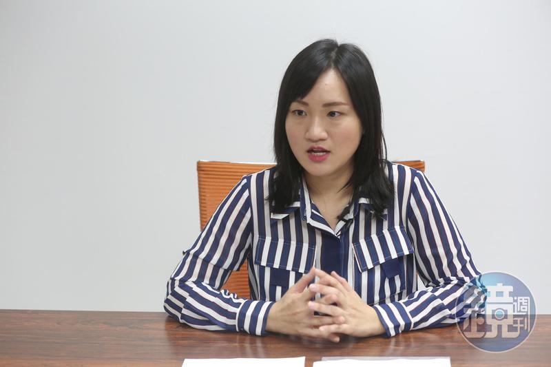 民進黨發言人謝佩芬(圖)接受本刊訪問,描述她遭陳姓痴男跟蹤騷擾的始末。