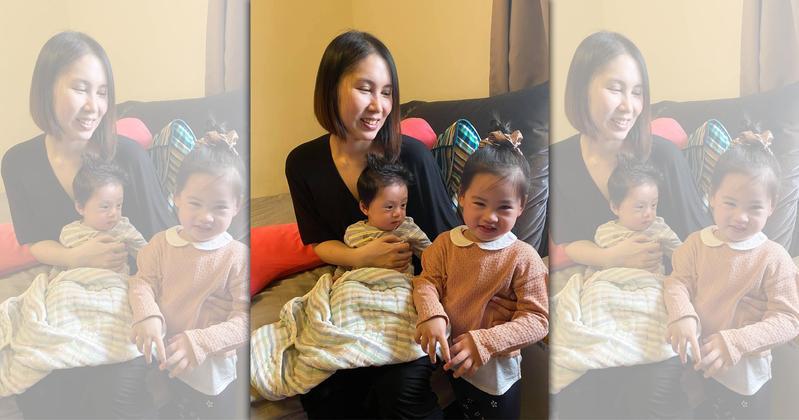 余苑綺自嘲人氣輸女兒,幫小孩成立頻道準備當星媽。(翻攝自余苑綺臉書)