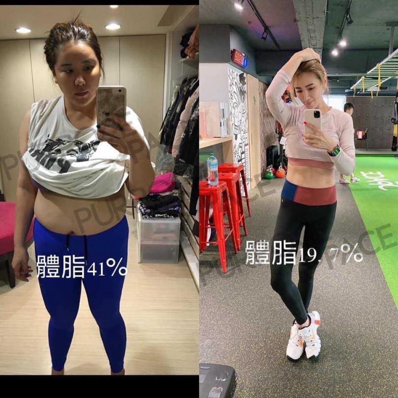 小禎曾因病爆肥,透過努力將體脂從41%降到19.7%。(翻攝自小禎臉書)