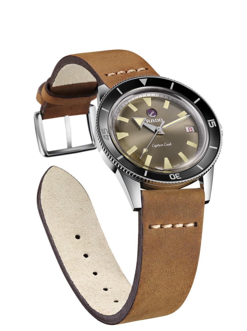 RADO雷達於2017年推出的「庫克船長」復刻限量錶款。