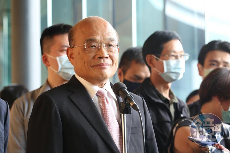 行政院長蘇貞昌表示,中國應該台海平靜,才會更贏得台灣人民的好感。(本刊資料照)