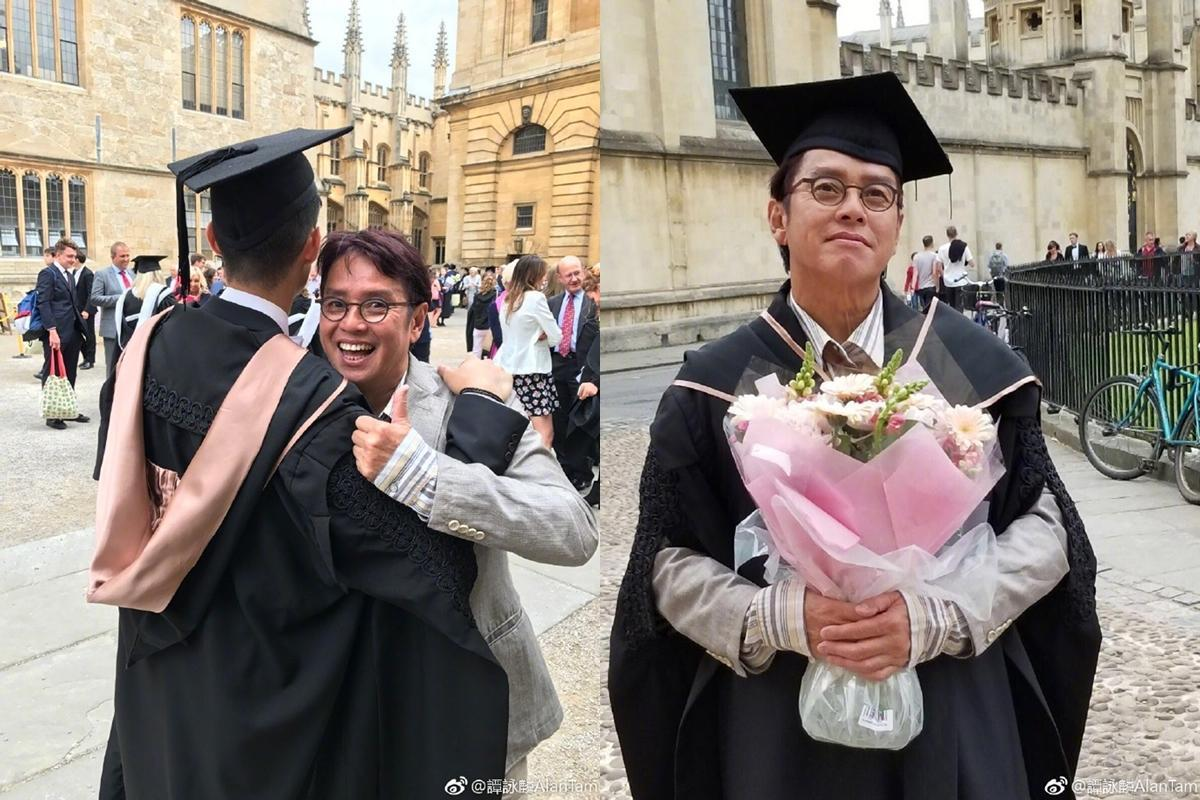 譚詠麟私生子譚曉風22歲就獲得牛津大學碩士學位。(翻攝自譚詠麟微博)