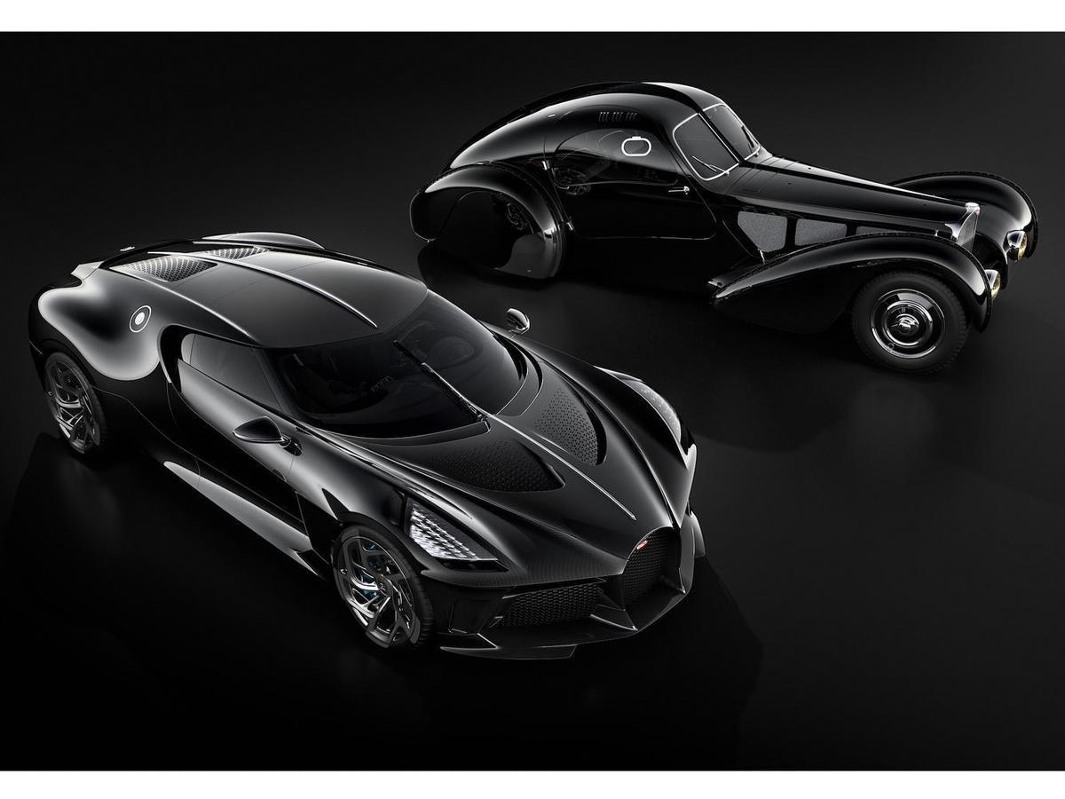 BUGATTI「La Voiture Noire」設計靈感來自於BUGATTI經典車款Type 57 SC Atlantic。