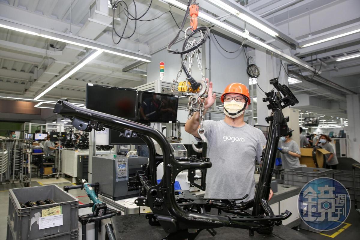 Gogoro強調每項環節採取科技管控生產流程及細節。