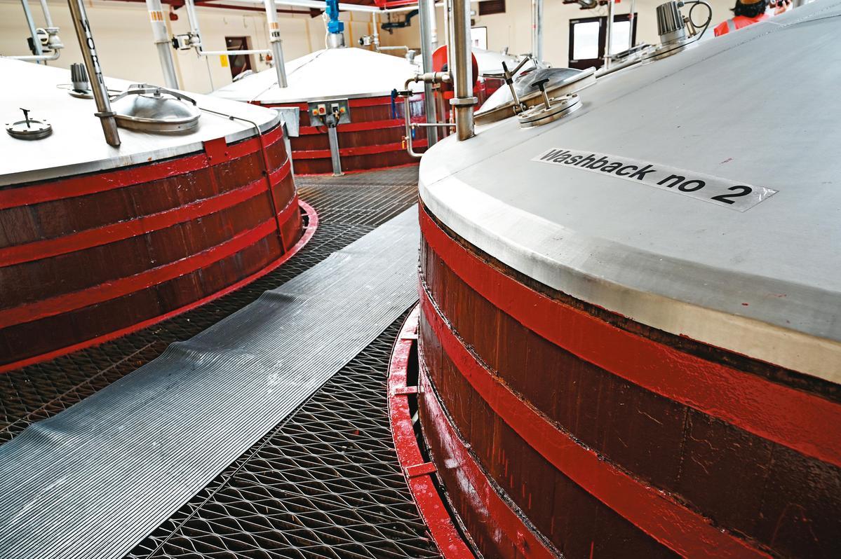 廠內6座木製發酵槽和2座戶外不鏽鋼發酵槽,發酵時間都是70小時。
