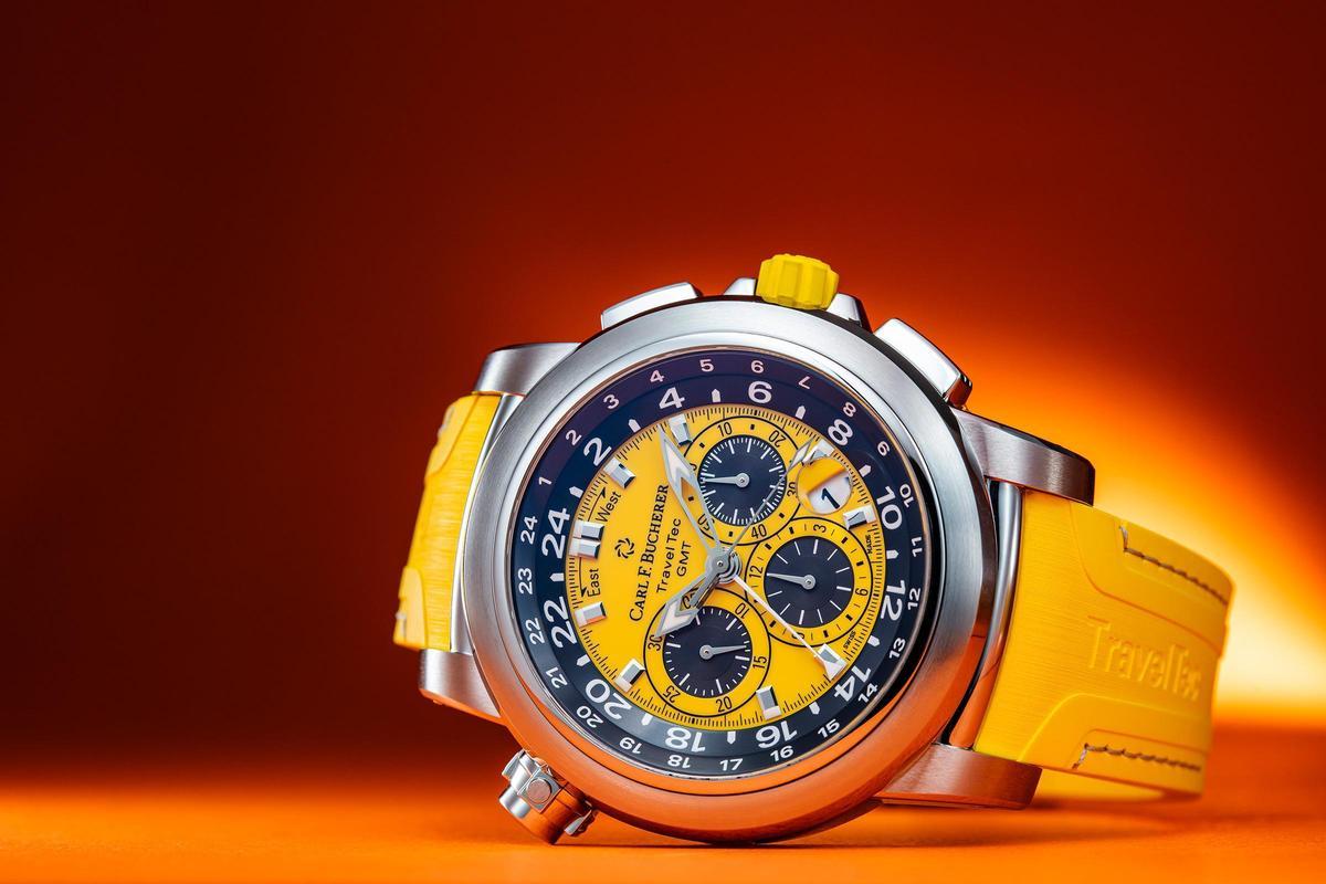 寶齊萊早在2006年就開發出Patravi TravelTec三地時間計時碼錶這枚款式,功能豐富且強大。