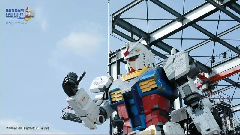 橫濱鋼彈園區預計12月19日開幕,可移動等身大鋼彈也將正式展出。(翻攝自GundamInfo YouTube頻道)