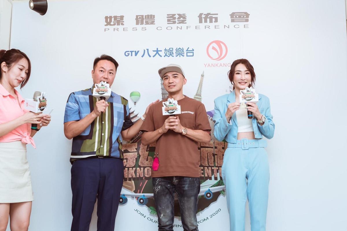 曾榮獲2010年電視金鐘獎「行腳節目主持人獎」 的小馬(倪子鈞),也到記者會站台。(延康國際娛樂提供)