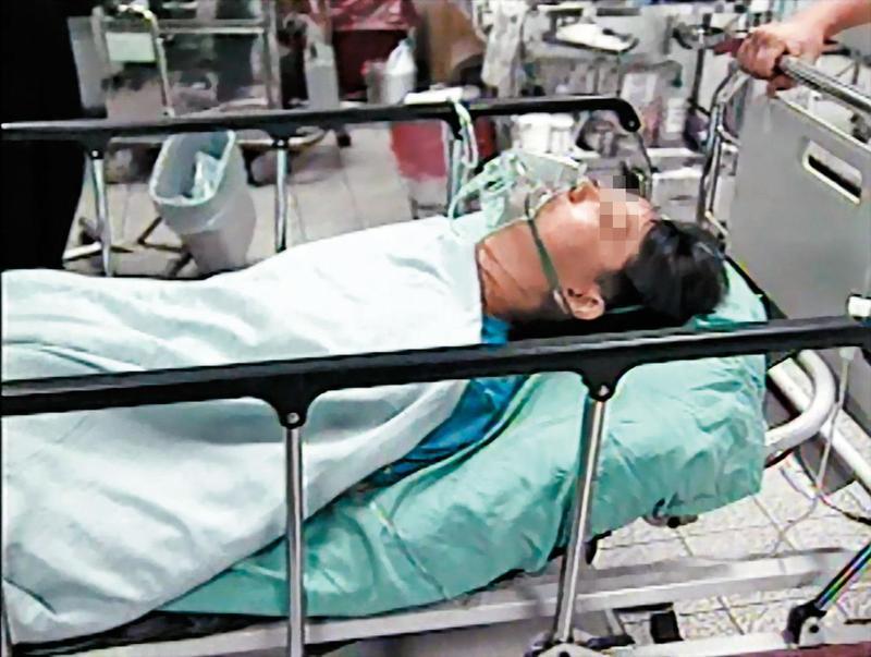 吳女偽裝與學生A女殉情自殺,最後送醫獲救。(東森新聞提供)