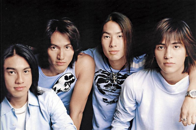 朱孝天(左起)與言承旭、吳建豪、周渝民2001年主演《流星花園》爆紅,引領了一個世代。(翻攝自《新浪娛樂》)