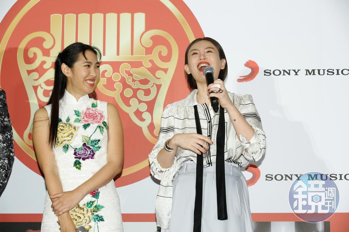 險勝同門歌手王若琳,魏如萱笑說:「還好勝了!」。