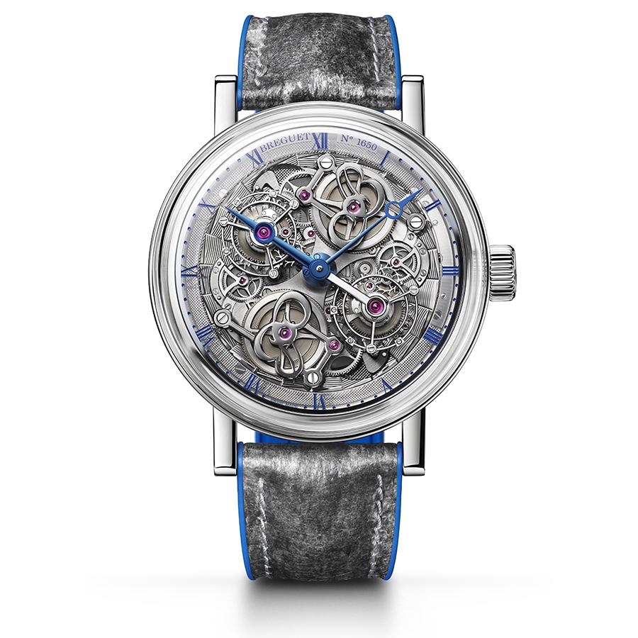 錶徑46mm/鉑金材質/時間指示/雙陀飛輪裝置/588N手上鏈機芯/全球限量四只/建議售價約新台幣2054萬元