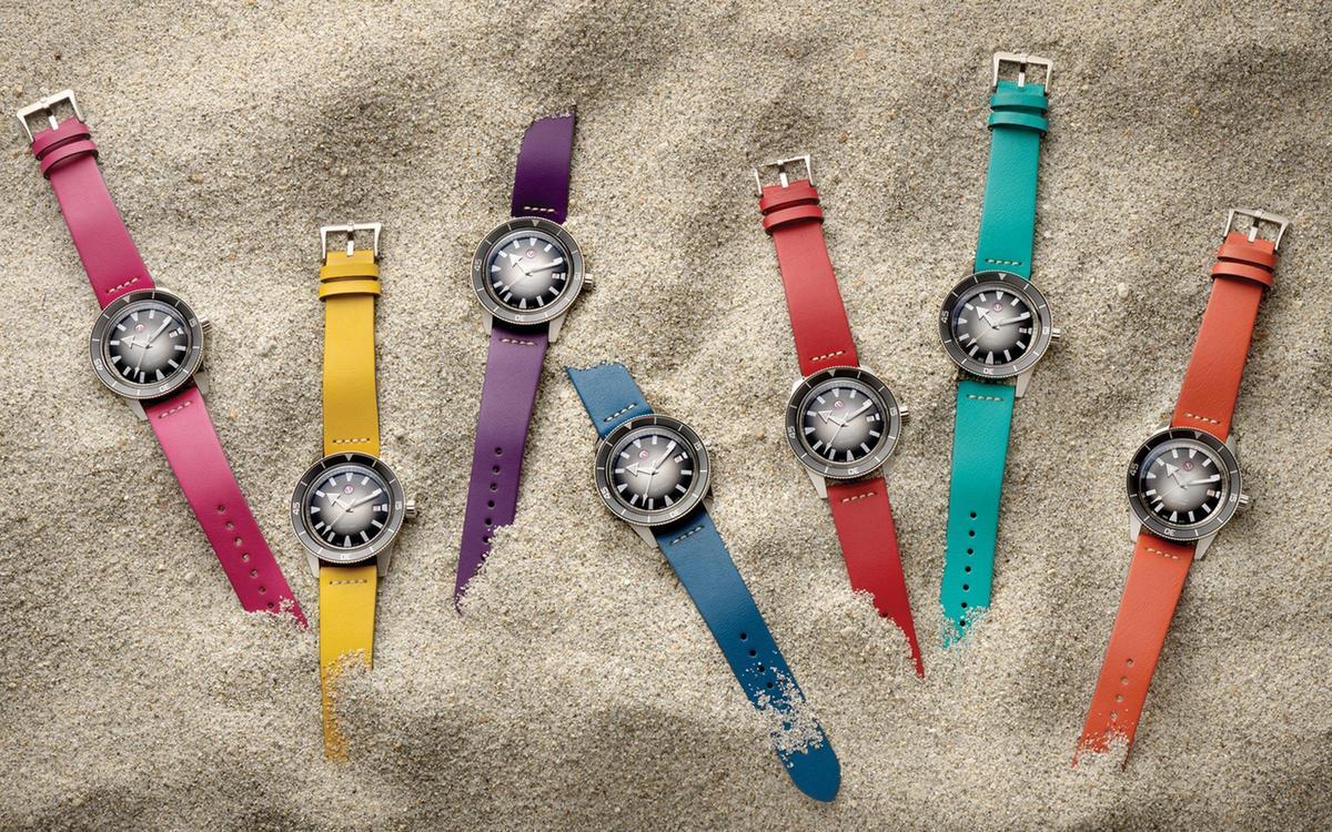 雷達為目前產品主力:Captain Cook腕錶推出七種錶帶顏色,變化風格隨心所欲。錶款定價NT$58,800(配鏈帶),錶帶另購每條定價NT$2,800。