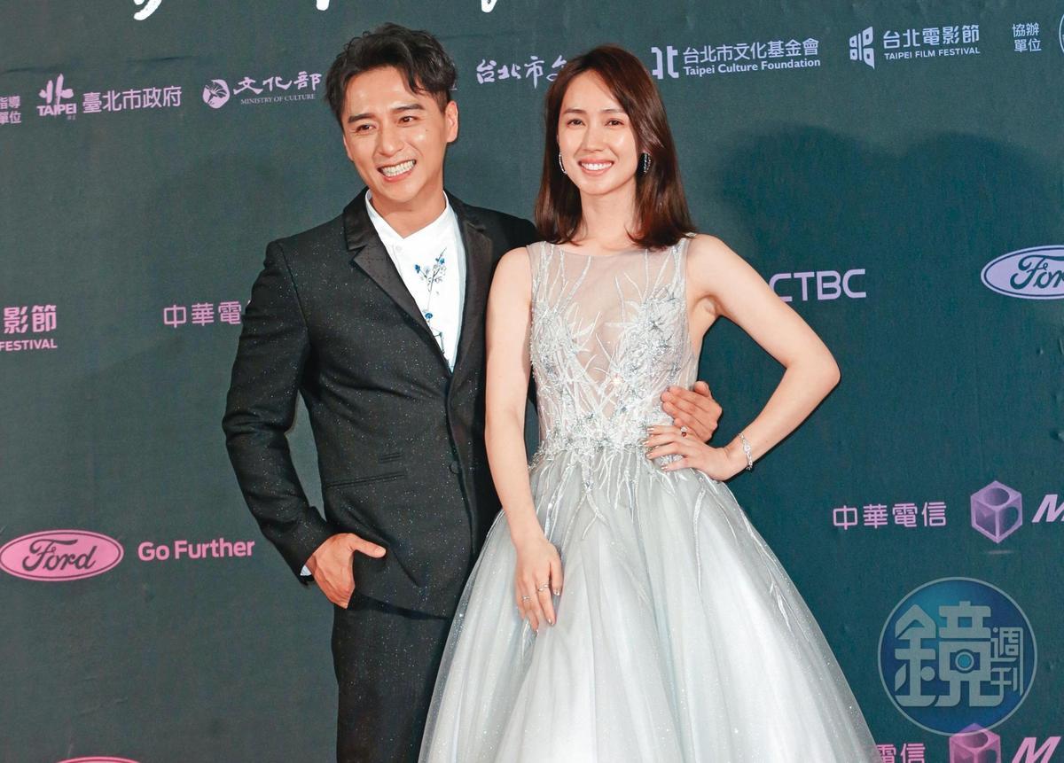 去年台北電影獎,鄭人碩(左)與小薰憑《寒單》情侶檔入圍,只是雙雙都槓龜。