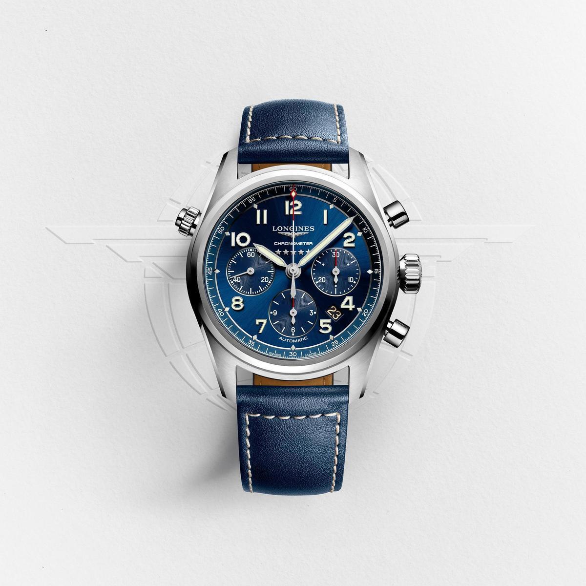浪琴Spirit先行者系列計時碼錶,建議售價NT$100,300。