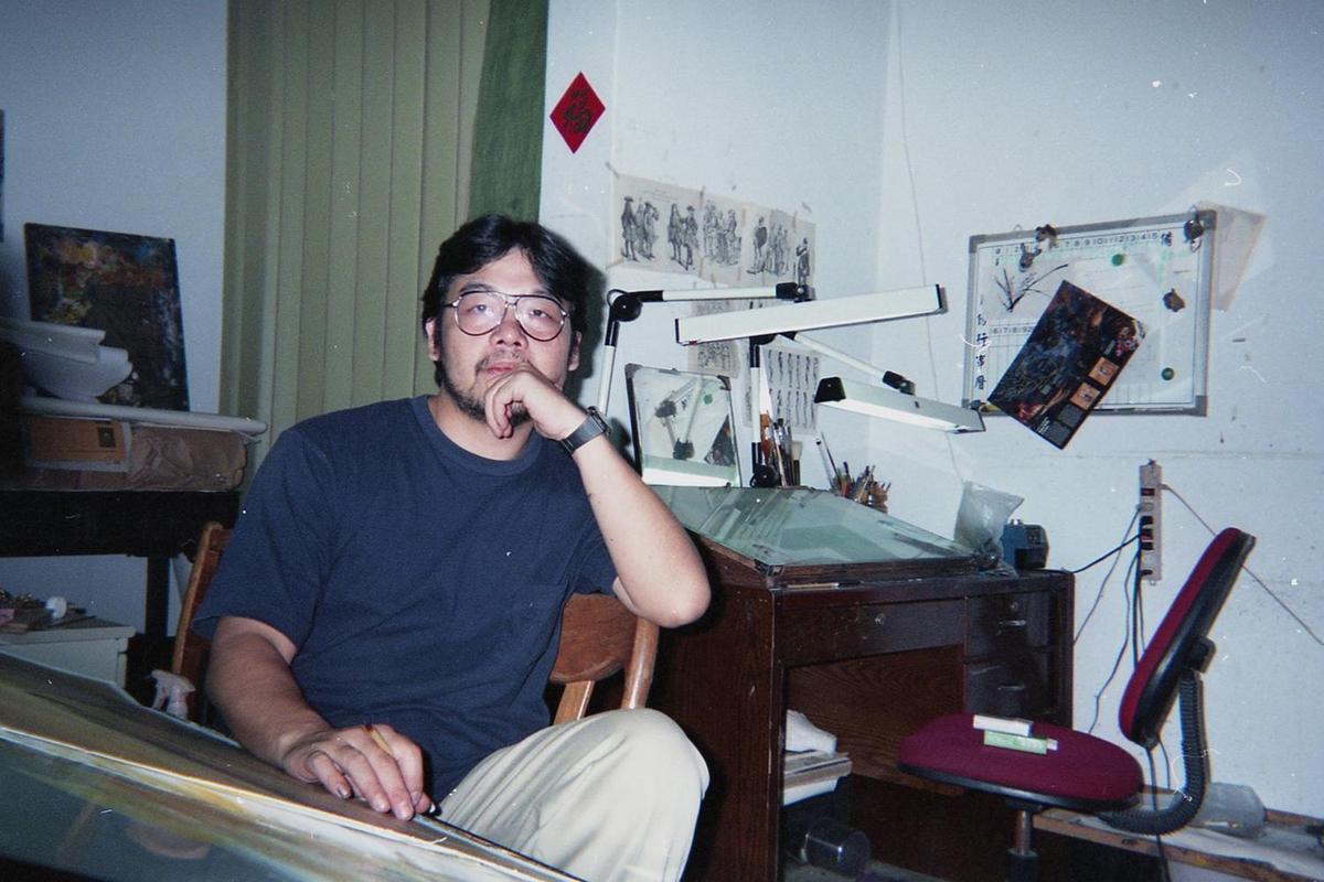 已故漫畫家鄭問用毛筆、水墨技法創作漫畫,以東方寫意融會西方寫實,受日本漫畫圈譽為「異才、鬼才、天才」。(牽猴子提供)