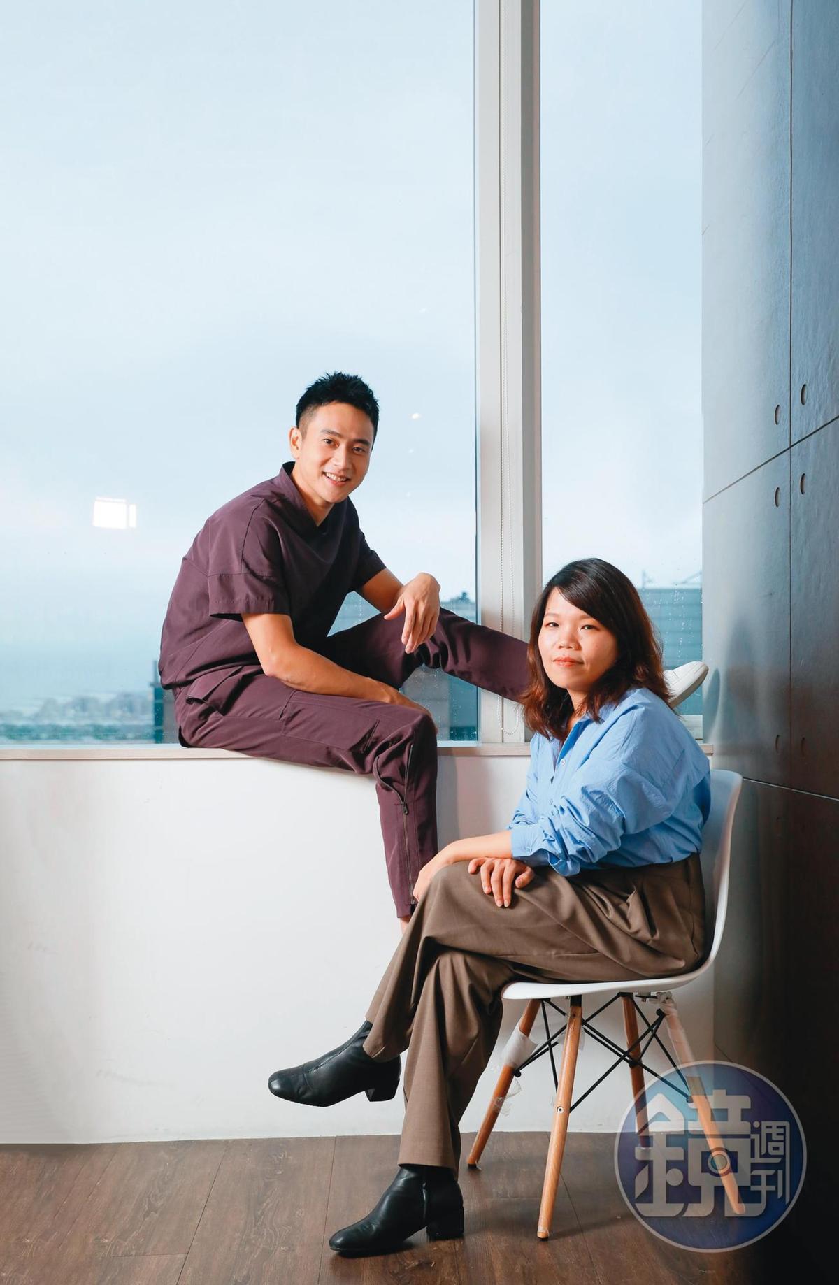 導演柯貞年(右)一開始就相中演員劉冠廷(左)飾演特教學校的老師,認為他有種讓人猜不透的特質。
