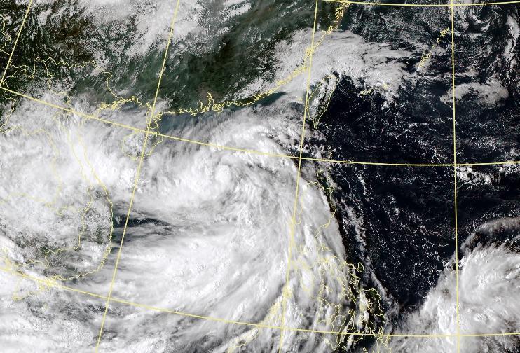 第16號輕颱「南卡」生成,預測路徑朝西前進。(翻攝自氣象局官網)