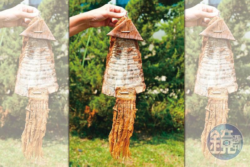 曬乾後的筍乾酷似魷魚,讓桂林社區想出了「黃金山魷魚」名產。