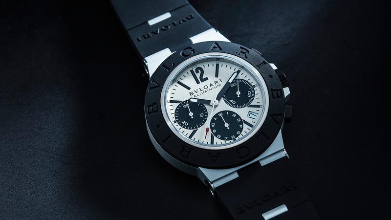 Aluminium Chronograph 錶徑40mm/鋁材質錶殼/時間及日期指示、計時碼錶功能/B130自動上鏈機芯/防水100米/建議售價約NT$ 131,600