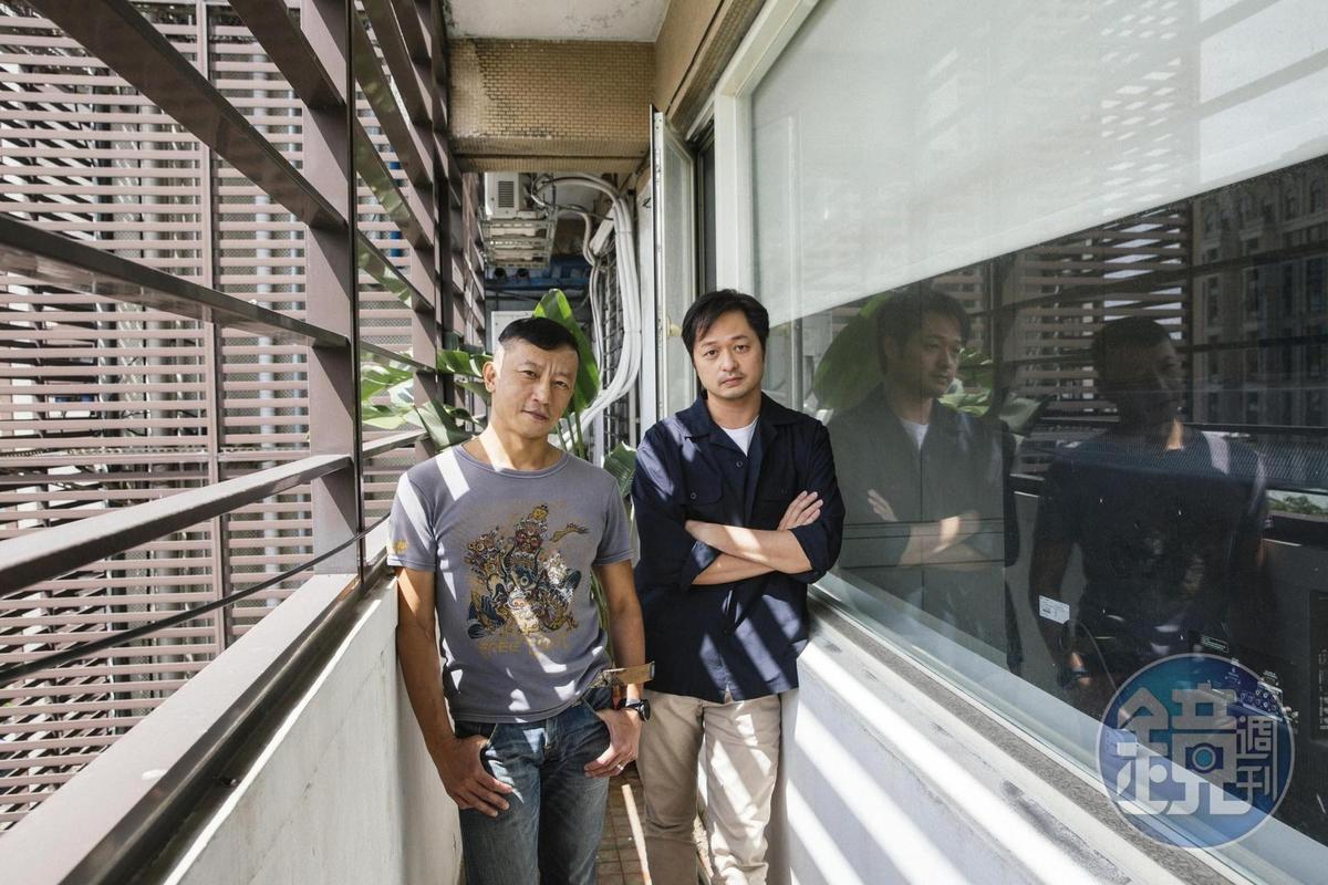 楊雅喆(左)首度擔任電影監製,從發想、編劇到拍片過程中提供鄭有傑(右)各種建議。