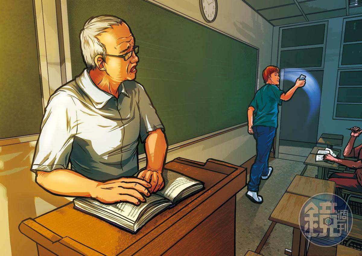 L姓學生秀了秀手機,逕自離開教室,事後栽贓老師要他滾出教室。