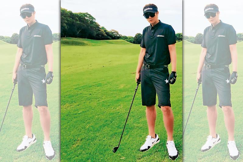 羅志祥神隱螢光幕後,積極運動健身,po出打高爾夫球照,身型看起來相當fit。(翻攝自羅志祥IG)