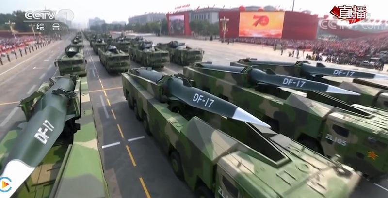 有港媒今報導,中國解放軍已將東南沿岸的飛彈基地升級,更布署「東風-17」超高音速飛彈。(翻攝自中國中央電視台官網)