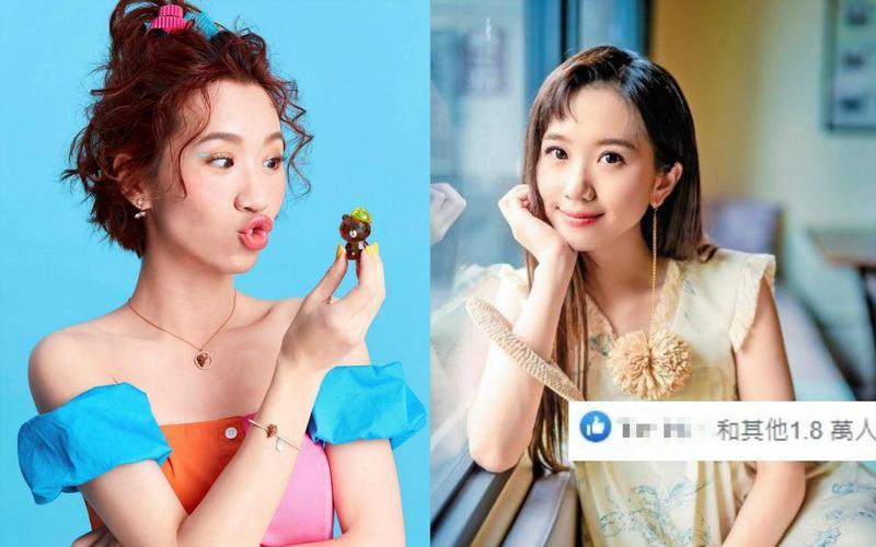 Lulu秀出長髮氣質照(右圖)獲得1.8萬個讚,她自己笑說︰「根本完全不同人吧?」(SWAROVSKI提供、翻攝自Lulu臉書)