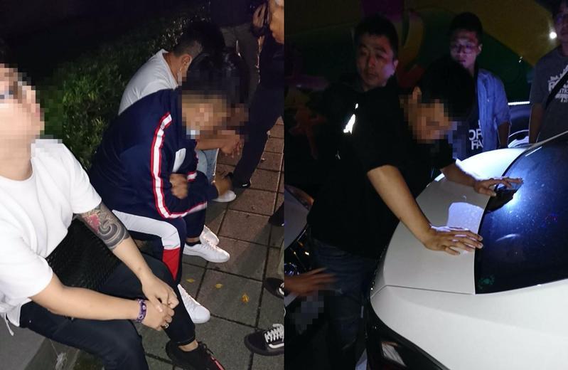 警方查出4人曾經預謀犯案,並有通聯紀錄佐證。(大安分局提供)