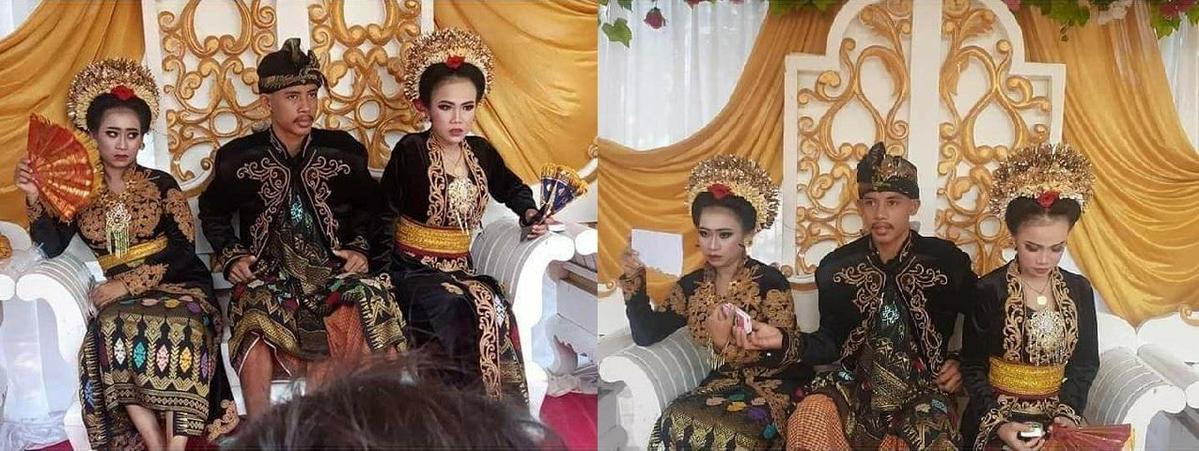 第1任妻子F女無奈接受,丈夫和第2任妻子M女拒絕發表評論。(翻攝自IG/makassar_iinfo)
